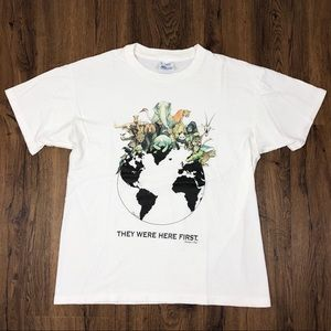 "1992 ""THEY WERE HERE FIRST"" HUMAN-I-TEE Shirt L"